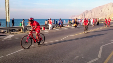 Photo of اقامة سباق ترايثلون بخاء بمحافظة مسندم