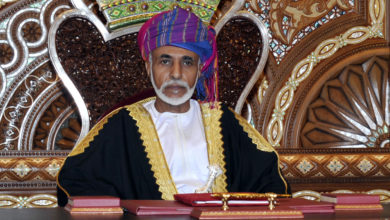 صورة برقية تهنئة لجلالة السلطان من المفتش العام للشرطة والجمارك
