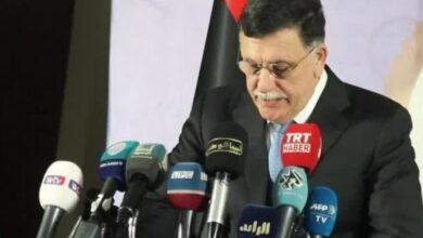 Photo of رئيس حكومة الوفاق الوطني الليبية يعتزم تقديم استقالته نهاية أكتوبر..