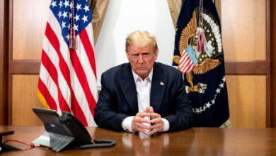 صورة الغموض يكتنف مدى خطورة حالة ترامب قبل أربعة أسابيع من الانتخابات..