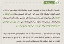Photo of وزارة الصحة : تسجيل حالات تسمم غذائي متعلقة بتناول بعض أنواع المحاريات..