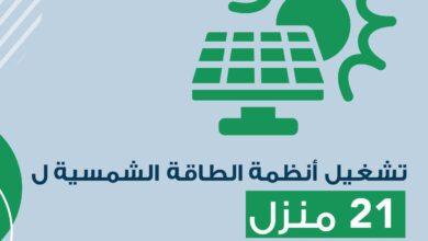 صورة مسقط لتوزيع الكهرباء : 43 منزلاً سوف تعتمد على الطاقة الشمسية بنهاية العام..
