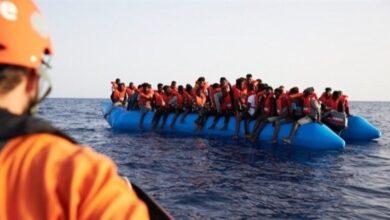 صورة قافلة جديدة للمهاجرين من هندوراس تصل إلى جواتيمالا..