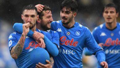 صورة فوز نابولي على فيورنتينا بستة اهداف بالدوري الإيطالي..